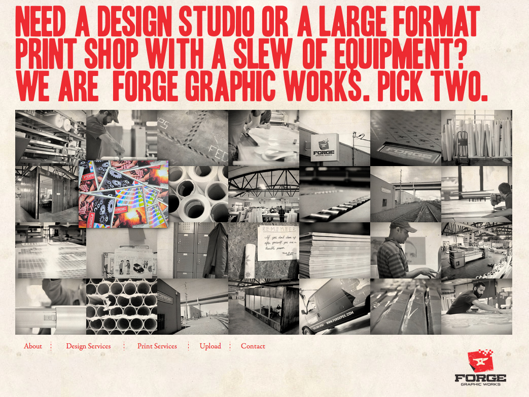 Forge Graphic Works Website